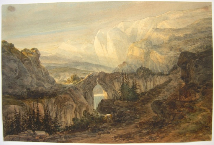 Landscape with natural bridge
