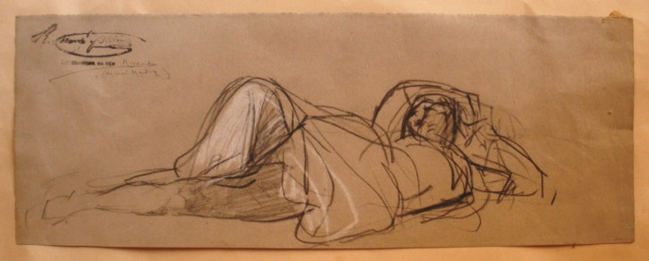 Retrato de Carlota, esposa del artista