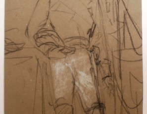 Retrato de Alfonso XII, rey de España (verso) y desnudo de mujer (reverso)
