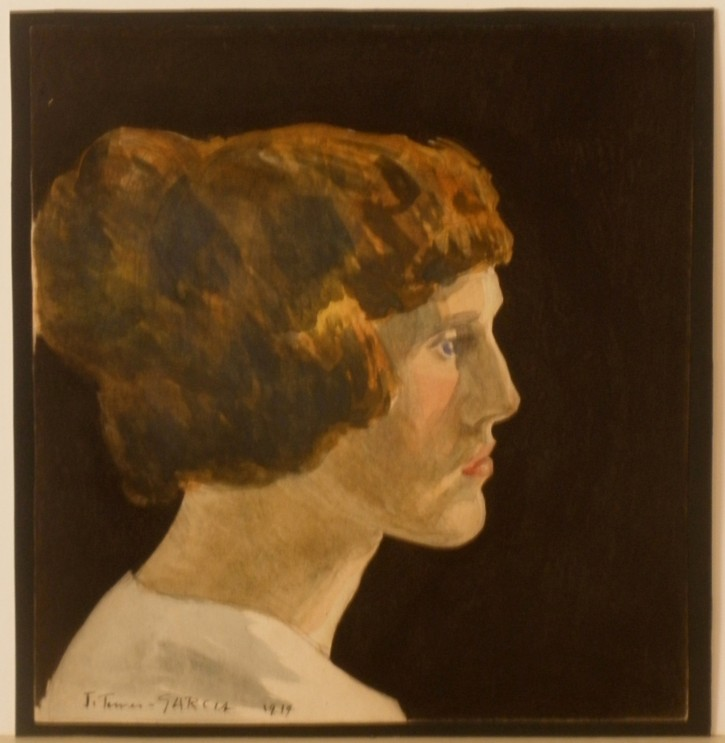 Young profile (Manolita Piña, wife of the paintor)