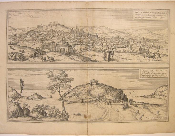 Vista de Burgos y San Sebastián