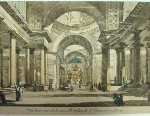 Vue Interieure de la nouvelle Eglise de Ste Genevieve à Paris