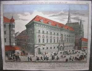 Vuë du Palais Episcopale vers l'Eglise Cathedrale à Vienne
