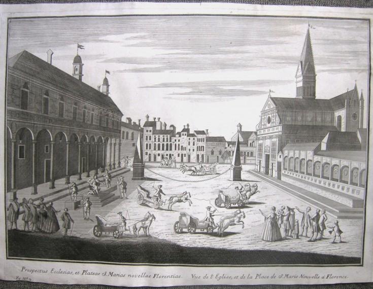 Vue de l'Eglise, et de la Place de S. Marie Nouvelle a Florence