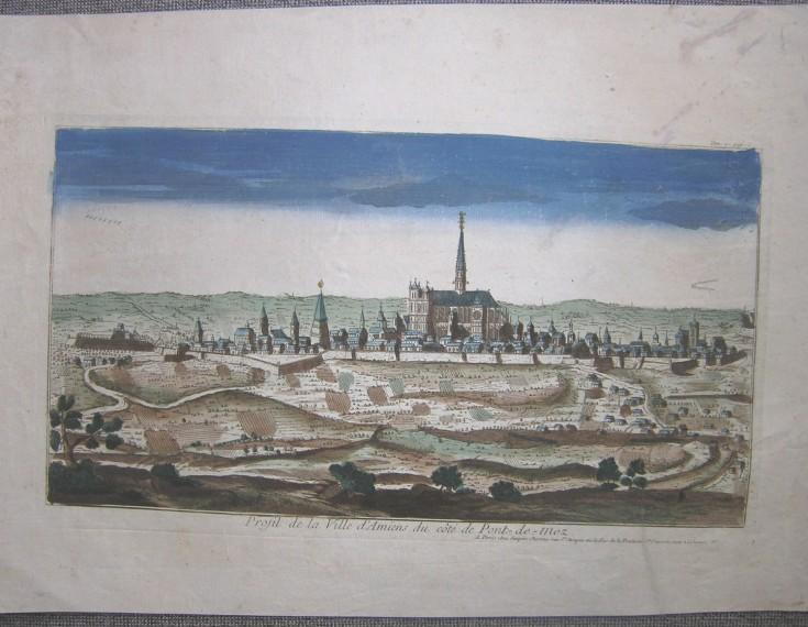 Profil de la Ville d'Amiens du côte de Pont-de-Mez