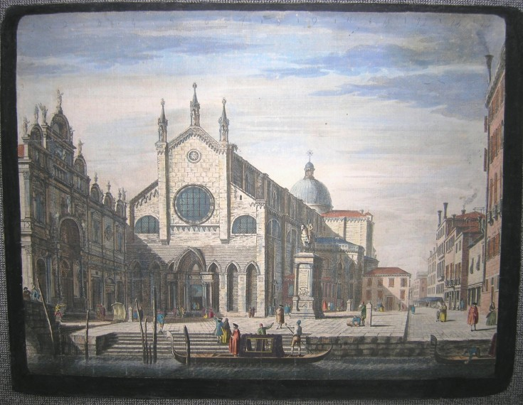 The Place and Church of St. John and St. Paul with the School of St. Mark on the left hand & the Equestrian Statue of General Bartolomeo Coleone in the front