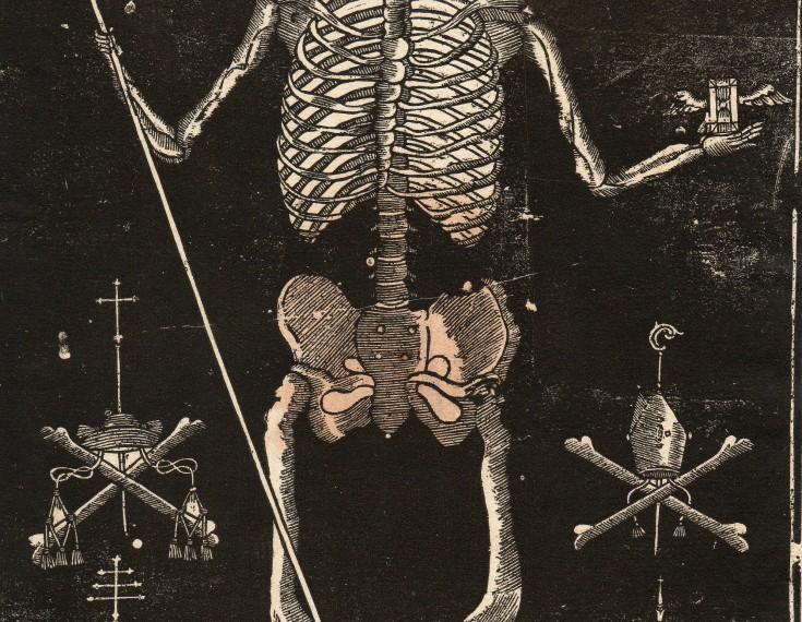Memento mori (Anónimo) -  - [Imagenería, Cataluña, XVIII, Xilografía, Papel verjurado]