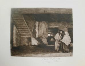 Campesinos en un interior