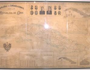 Mapa Gral y de Comunicaciones de la República de Cuba