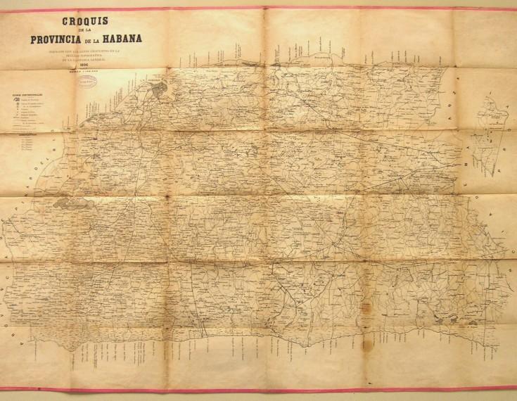 Croquis de la provincia de la Habana formado con los datos existentes en la sección topográfica de la Capitanía General