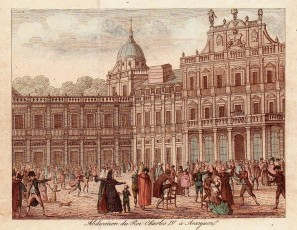 Abdication du Roi Charles IV à Aranjuez