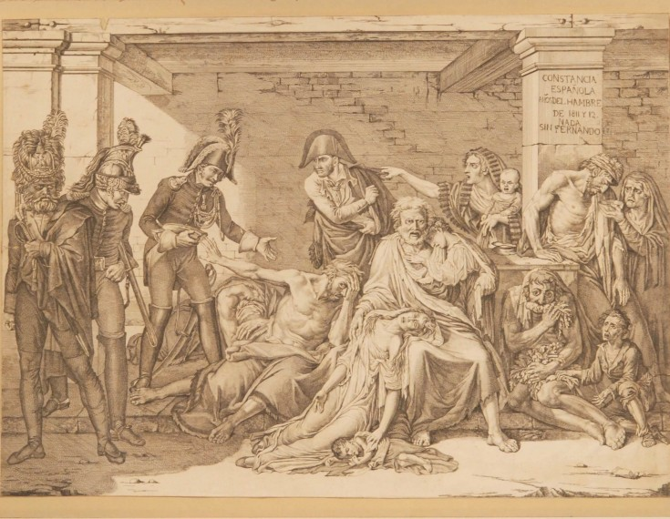 Alegoría del hambre en Madrid los años de 1811 y 1812