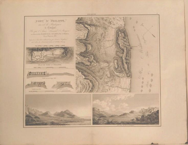 Fort st. Philippe, au col de Balaguer en Catalogne pris par l'Armée Française d'Aragon aux Ordres de S.E. le Maréchal Suchet, Duc d'Albuffera le 9 Jaunier 1811…