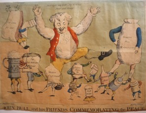 John Bull and his friends commemorating the peace