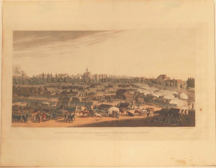 Precipitate Flight of the French through Leipsic pursued by the Allied Armies / 19th October 1813