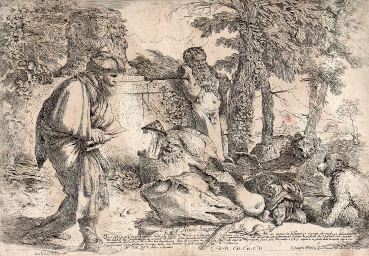 Diogenes searching the honest Man