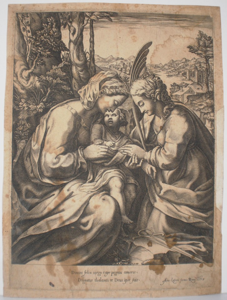 Matrimonio místico de Santa Catalina de Alejandría