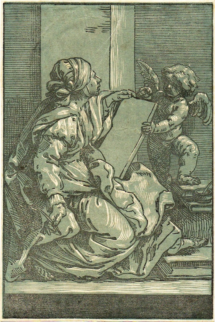 Sibyl with putti