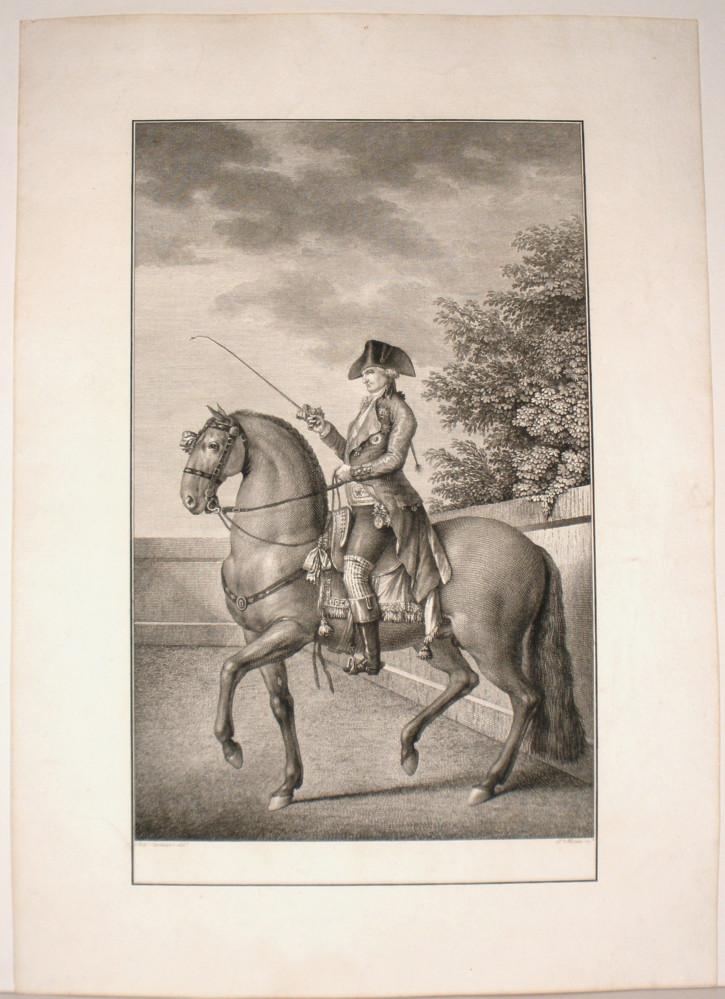 Retrato de Carlos IV a caballo. Trote corto