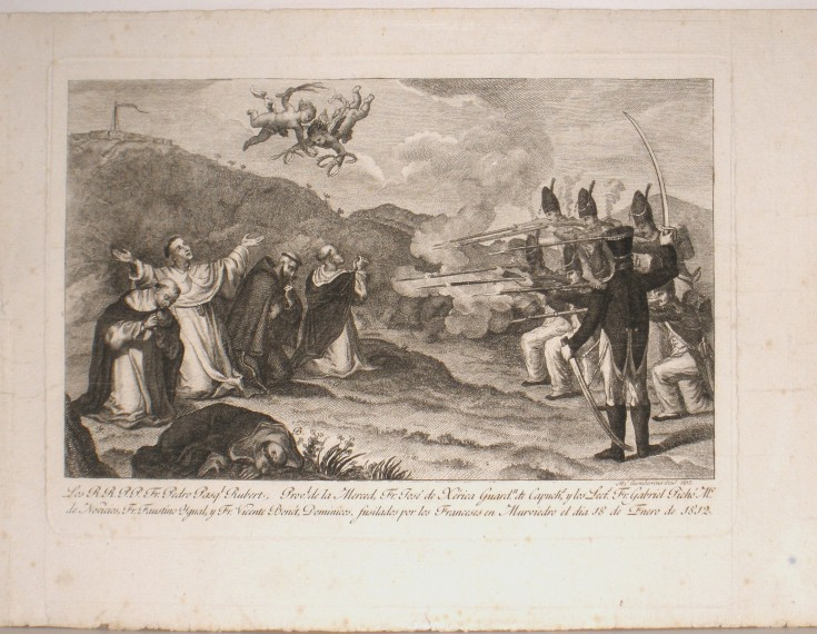 Mercedarian execution by the French soldiers in Murviedro