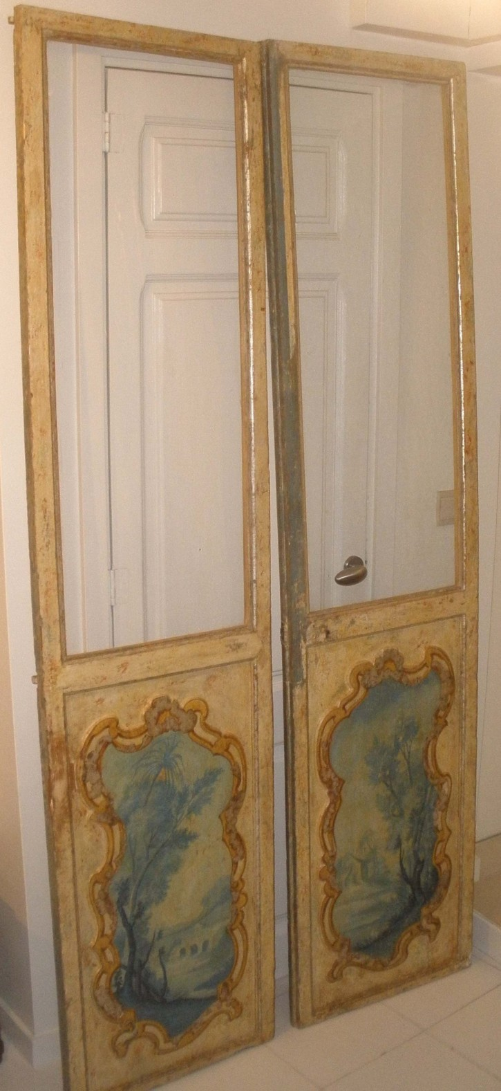 Pair of polychromed 18th century doors