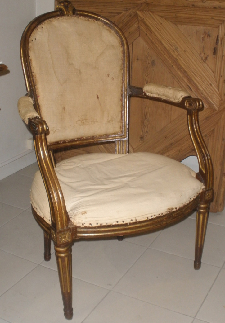 Pair of armchairs Louis XVI
