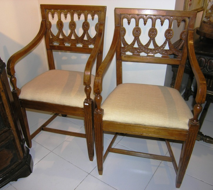 Pair of cherry armchairs