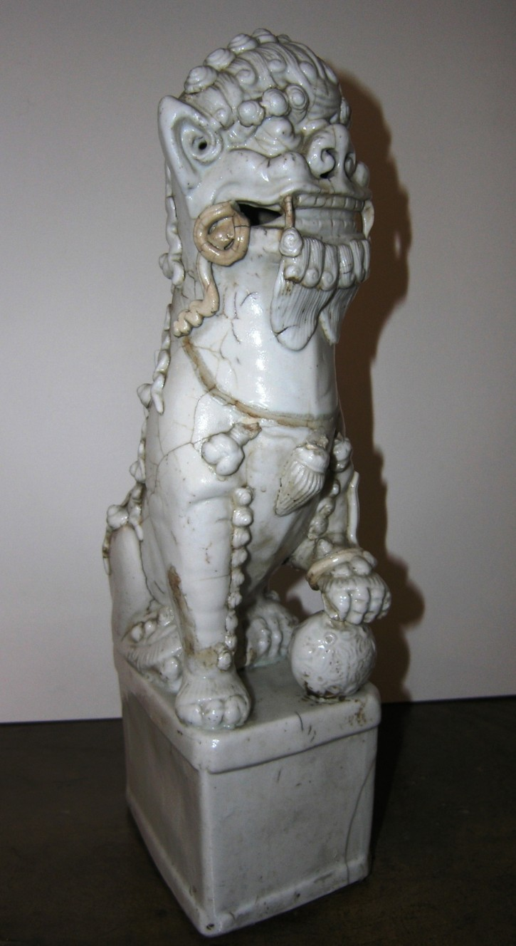 Ceramic lion from Chine