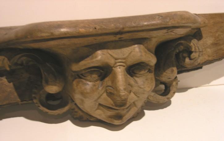 Talla de cara grutesco () - 1714-1715 - [Cataluña, XVIII, Madera]
