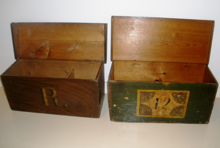 Pair of pharmacy boxes