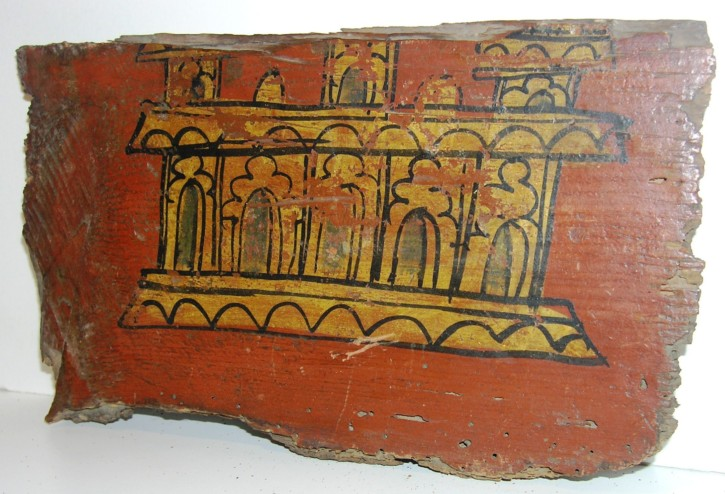 Paneling painted fragment