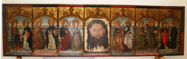 Lower part of a gothical altarpiece dedicated to Saint Johan the baptist