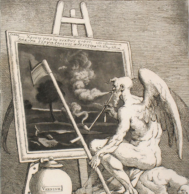 Time smoking a picture - Hogarth - Boydel - grabado