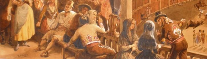 Escena taurina. El arrastradero (Pharamond Blanchard, Henry Pierre Leon) - 1847 - [Fiesta y Ocio, Francia, XIX, Lápiz, pluma, aguada y acuarela, Últimas adquisiciones]