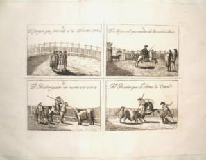 Lot of 6 prints of bullfighting scenes