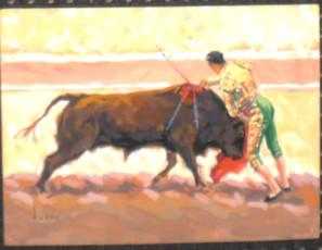 Three bullfighting scenes