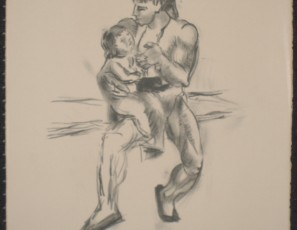 Bullfighter and baby