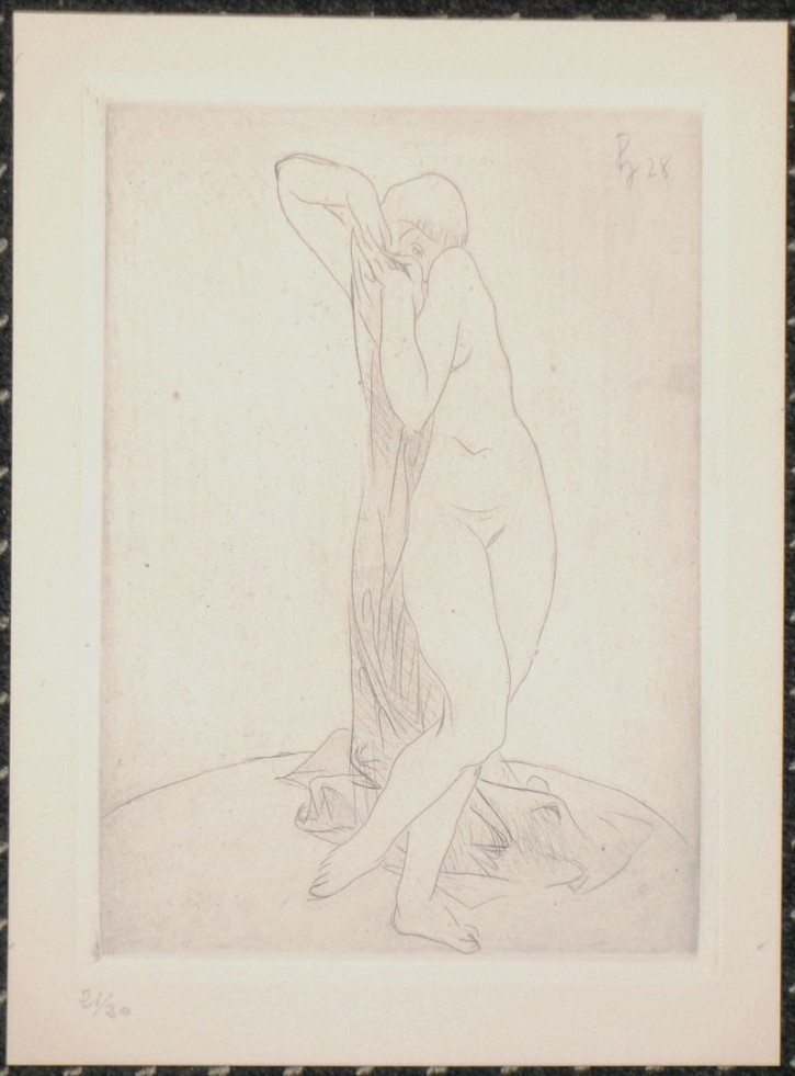Naked woman. Bather