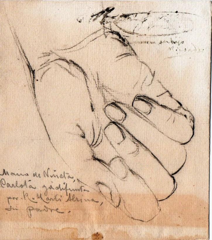 Pareja de dibujos de Carlota, hija del artista, difunta (Martí Alsina, Ramón) - 18 de diciembre de 1872 - [Retrato, Cataluña, XIX, Lápiz, Papel verjurado]