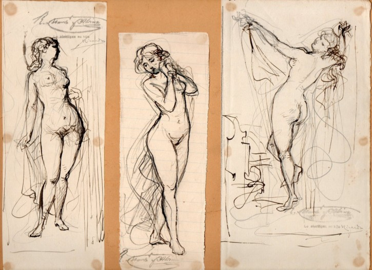Three sketches of women