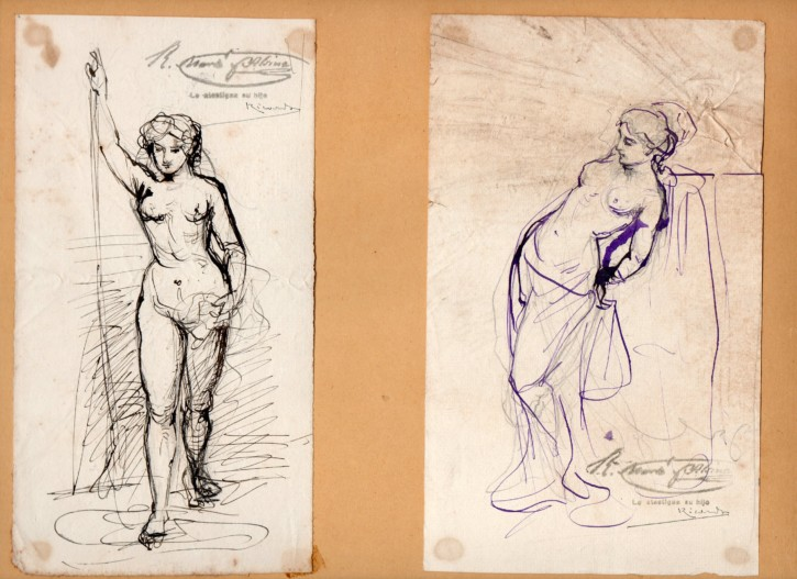 Two sketches of women