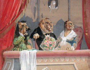 Lions in a theatre