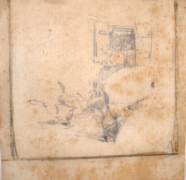 Gees and a donkey (Anónimo) - Late 19th century - [Animals, Catalonia, XIX, Pencil, Laid paper]