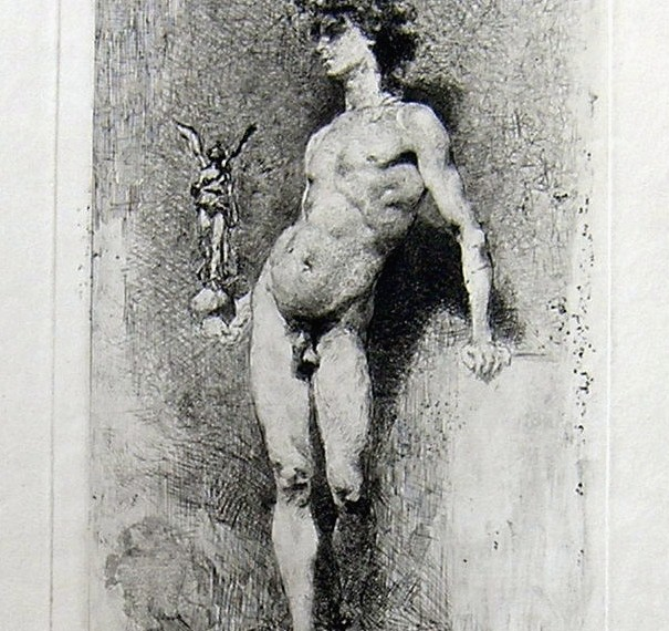 The Victory (Fortuny Marsal, Marià - Goupil) - Fourth state, 1867 - [Mithology and allegory, France, XIX, Etching, Wove paper]