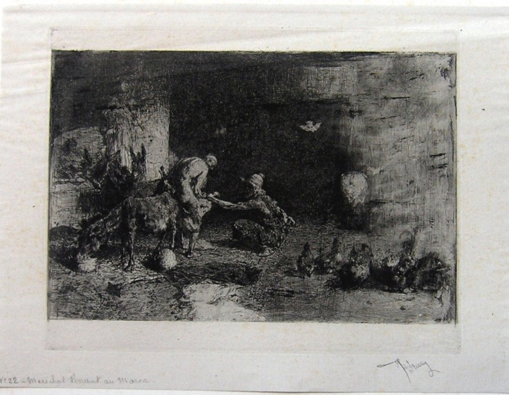 "Smither from Marroco (Fortuny Marsal, Marià - Goupil) - 2nd tirage, ""avant la lettre"", 1878 - [Others, France, XIX, Etching and aquatint, China paper ""appliqué""]"