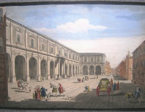 A View of the Hospital & Piazza of St. Mary at Florence