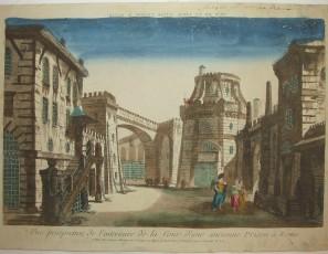 Vue de la Cour d'une Prison a Rome