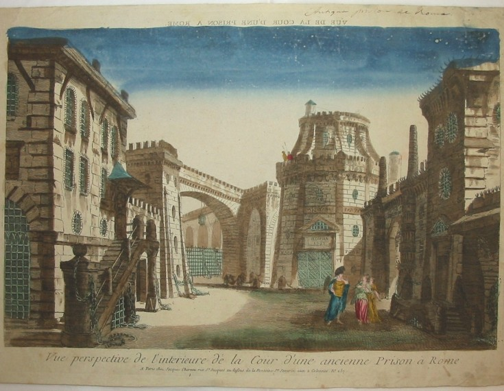 View of the Cour from a Rome prison