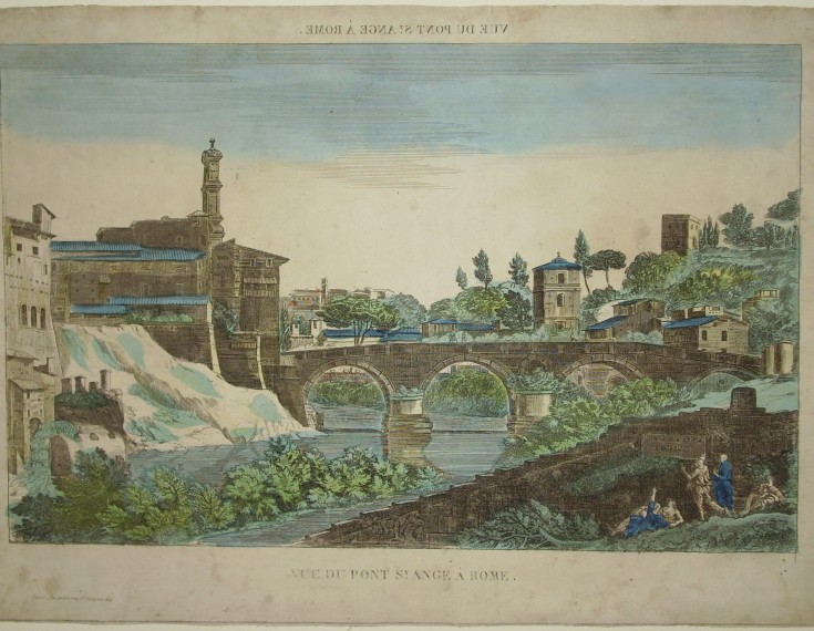 View of the Pont Sant Ange in Rome