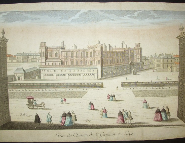 View of Saint Germain Castle in Laye